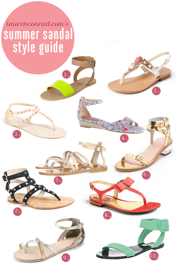 Style Guide: 10 Chic Summer Sandals