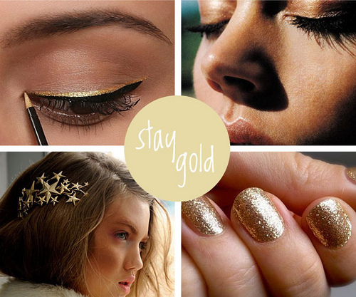 Beauty Note: Go for the Gold!